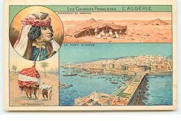 Les Colonies Françaises : L'Algérie - Campement De Nomades (Multi-vues) - Publicité Phoscao - Algeri
