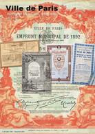 """""""Ville De Paris"""" – Liste Emprunt Municipal (1865 - 1963) - Ohne Zuordnung"""