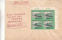 Allemagne - République Démocratique - Lettre De 1960 - Oblit  Luckenwald - Bloc De 4 Avec Chiffres - Trains - Brieven En Documenten