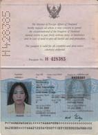Passeport, Reisepass,passport,paspoort Pre Biometric Thailand 2000 Lady Picture - Historical Documents