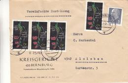 Allemagne - République Démocratique - Lettre De 1967 - Oblit Bernburg - Fleurs - - Brieven En Documenten