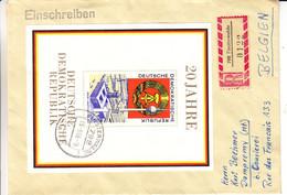 Allemagne - République Démocratique - Lettre Recom De 1969 - Oblit Finsterwalde - Rathaus - Maison Communale - Radio - Brieven En Documenten