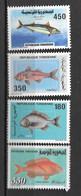1991 - 1163 à 1166 **MNH - Poissons - Tunesien (1956-...)