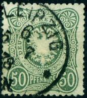 """Deutsches Reich 1875 Michel-# 38 """" 50 Pf PfennigE """" Mi ~20 € - Usados"""