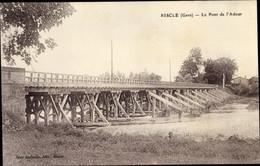 CPA Riscle Gers, Le Pont De L'Adour - Altri Comuni