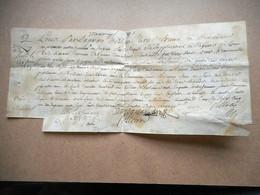 PARCHEMIN Daté 1739 A étudier Generalite De BORDEAUX - Manuscripts
