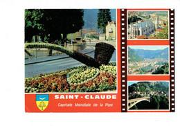 Cpm - 39 -  Saint Claude - Multivues Pipe Blason - Edit De L'est C39478102 - 1977 - Pellicule Film - - Saint Claude