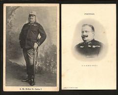 Conjunto De 2 Postais MONARQUIA: Rei D.Carlos I (Uniforme De Verão De Marechal). Edição CASA Dos POSTAES Lisboa Portugal - Koninklijke Families