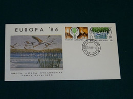 Greece 1986 Europa Cept Imperforate Unofficial FDC VF - FDC