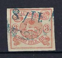 ⭐ Allemagne - Brunswick - YT N° 3 - Oblitéré - 1852 ⭐ - Braunschweig