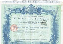 13-CHEMINS DE FER DU SUD DE LA FRANCE.   Juin 1890.  DECO.  Lot De 4 - Other