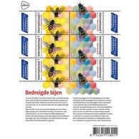 A 287 ++  NEDERLAND NETHERLANDS 2021 BEDREIGDE BIJEN BEES BINE INSECTS   ++ MNH POSTFRIS - Ongebruikt