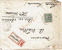 CTN68ETR-  HONGRIE LETTRE RECOMMANDEE ZAGREB JUIN 1899 - Covers & Documents