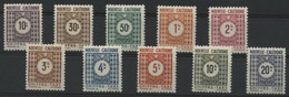 Nouvelle Calédonie Timbres-Taxe N° 39 à 48 COTE 11.5 € Neufs * (MH) - Timbres-taxe