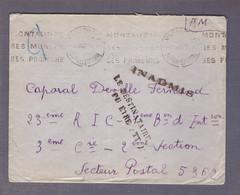 ⌧ FM ʘ Montauban 03.06.1940 ->SP 5362 - Inadmis - Le Destinataire N'a Pu être Atteint. - WW II
