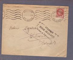 ⌧ Aff Pétain 1f50 ʘ Annemasse 21.05.1942 -> Libourne - Inadmis - Zone Occupée - Retour à L'envoyeur - WW II