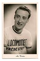 CARTE CYCLISME AP DONKER TEAM LOCOMOTIEF 1957 - Ciclismo