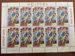 FEUILLET NEUF 10 TP EUROPA  MOLDAVIE 2006 - INTEGRATION - 2006