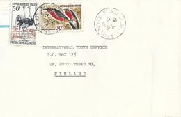 Niger 1979 Niamey Balafon Ostrich Yellow-crowned Gonolek Laniarius Barbarus Bird Cover - Ostriches