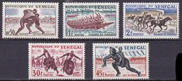 SN-10 – SENEGAL – 1961 – SPORTS & GAMES – Y&T 205/9 MNH 5,50 € - Senegal (1960-...)