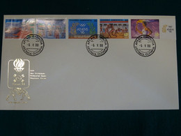 Greece 1988 Olympic Games Seoul Unofficial Perf. 12,5 FDC VF - FDC
