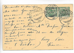 Italie LICATA CATANIA Cachet Sur Paire 5c Sur Cpa SIRACUSA 1911   ...G - Machine Stamps (ATM)