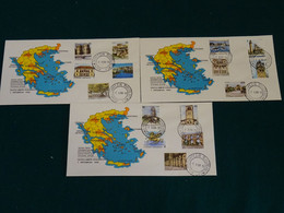 Greece 1988 Capitals Of Greece Imperforate Unofficial  FDC VF - FDC