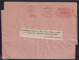 DR.  Ausland-Streifband Mit Frei-St Aus Leipzig 1923 - Unclassified