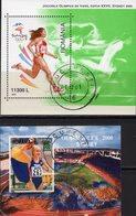 Olympiade Sydney 2000 Rumänien Blöcke 314+315 O 6€ Laufen Bloque Hoja Philatelic Blocs Sprint Ss Sport Sheets Bf Romania - Blocks & Kleinbögen