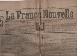 LA FRANCE NOUVELLE 09 10 1876 - PRUD'HOMMES - QUESTION D'ORIENT RUSSIE TURQUIE - ELECTIONS MAIRES - ALMANACH DU PELERIN - 1850 - 1899