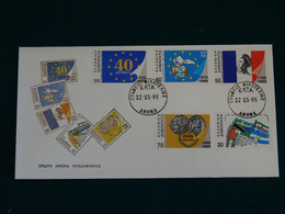 Greece 1989 International Anniversaries Imperforate Unofficial  FDC VF - FDC