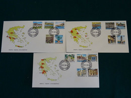 Greece 1990 Capitals Of Greece Imperforate Unofficial FDC VF - FDC