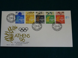 Greece 1990 Greece Home Of The Olympic Games Se-tenant Unofficial FDC VF - FDC