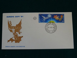 Greece 1991 Europa Cept Imperforate Unofficial FDC VF - FDC