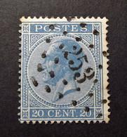 Belgie - Belgique 1865 - 1866 - N° 18 - 20c  - Obl. - Bureau  253 - Mont-St.-Guibert - 1865-1866 Profilo Sinistro