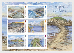 Guernsey 2018 MS - Europa 2018 - Bridges - Guernsey