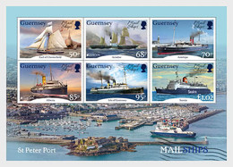 Guernsey 2020 MS - Europa 2020 - Ancient Postal Routes, Mail Ships - Guernsey