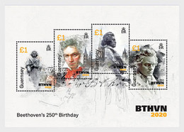 Guernsey 2020 MS - 250th Anniversary Of Beethoven - Part 4 - Guernsey