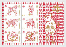 Guernsey 2021 MS - Year Of The Ox 2021 - Guernsey
