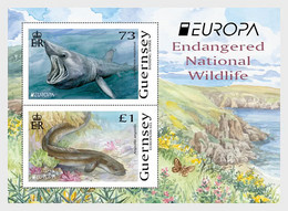 Guernsey 2021 MS - Europa 2021 - Endangered National Wildlife - Guernsey