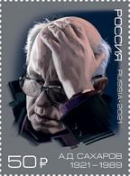 Russia 2021 Sakharov. Nobel Prize Stamp  MNH - Nuevos