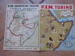 FIM Augusto BO Torino Fabbrica Inchiostri Matite Cartina Africa Orientale Italia ETIOPIA Formulario SOLIDI FIGURE PIANE - Pubblicitari