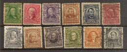ESTADOS UNIDOS  YVERT 144/155 (*)/(º)  Serie Corta 12 Valores  1902/1903  NL1301 - Unused Stamps