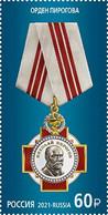 Russia 2021 Order Of Pirogov Stamp  MNH - Nuevos