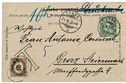 """1903, 5 C. """" STANS """" + Porto Österreich , A4916 - Cartas"""