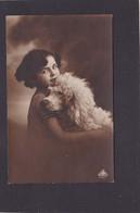 Dog Card  -   Dog With Young Girl. - Hunde