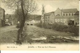 """CP De JEMELLE """" Vue Sur La L'Homme """" Au Verso Pun CHOCOLAT COSMOPOLITE  ANVERS - Rochefort"""