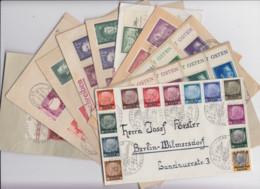 II.WK Generalgouvernement Partie 12 Belege Mit Satzbriefen/FDC/SSt  Ab 1/13 Bis 2x 117/19 FDC (siehe Bilder) - Lots & Kiloware (mixtures) - Max. 999 Stamps