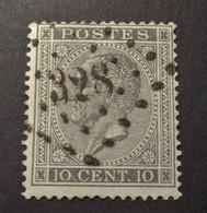 Belgie - Belgique 1865 - 1866 - N° 17 - 10c  - Obl. - Bureau  328 - St-Nicolas - 1865-1866 Profilo Sinistro