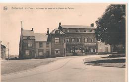 Bellecourt - La Place - Le Bureau De Poste Et La Maison Du Peuple - Manage